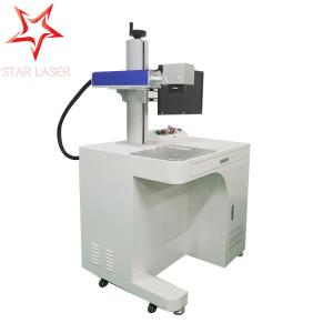 China Phone Charger Fiber Laser Etching Machine , Cables Wires Laser Marking Device on sale