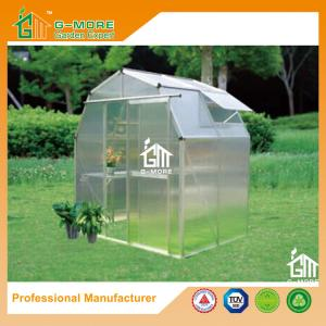 China 4'x6'x6.7'FT Silver Color Easy DIY Barn Style Garden Greenhouse on sale