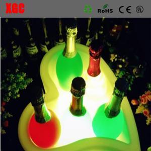 China Fashion Design Heart-shape LED Colorful Light Ice Bucket on sale