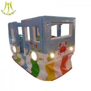 China Hansel  electric amusement ride soft play bus indoor games for baby on sale