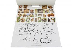 China Kids Custom Coloring Book Printing , Animal Cartoon Sticker Coloring Book on sale