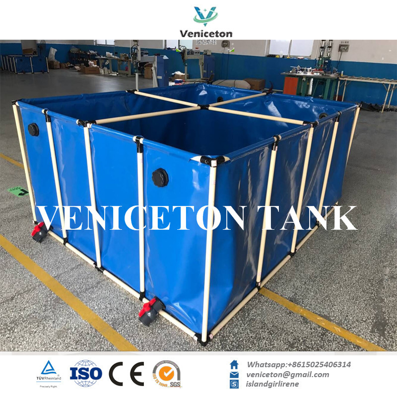2018 mobile folding square aquaculture tank for RAS system for sale