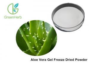 China Beverages Freeze Dried Aloe Vera Powder , Aloe Vera Inner Leaf Powder Extract on sale