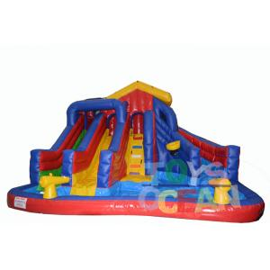 China 0.55mm PVC Tarpaulin Inflatable Slides Fireproof Outdoor Game For Children on sale
