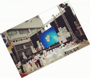 China Exhibición llevada alquiler al aire libre del festival de música P8 para el fondo de etapa on sale