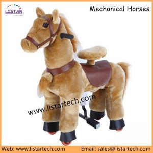 China Plush Rocking Horse on Wheels with Movement for Kids, Tennessee Walking Pony Walking Horse on sale