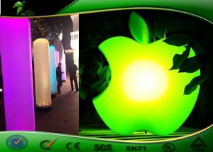 China Green Inflatable Lighting Decoration Big LED Apple Model Damp Proof on sale