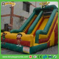 China Durable LargeSpongebob Inflatable Bouncy Slide for Kids And Adults , Inflatable Slip n Slide,Indoor Air Slide