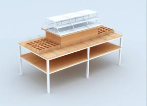 China Multi Functional Cosmetic Display Table / Beauty Products Display Shelves on sale