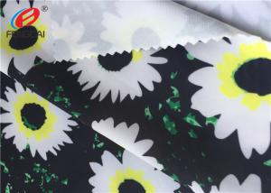China Printed Stretch Polyester Spandex Fabric For Derss , 40D + 40D Yarn Count on sale