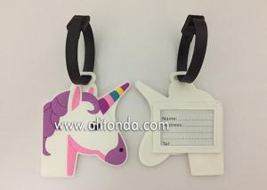 China 3D 2D luggage tag custom with horse cat chicken bird animal shape design on sale