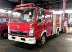 SINOTRUCK Water Foam Fire Fighting Truck, HOWO 4x2 Rescue Vehicles Fire Fighting Truck
