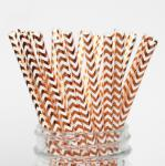 Colorful Gold Stamping Wave Pattern Decorative Paper Drinking Straws Customized Size
