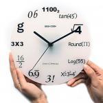 Horloge créative élégante moderne de métier de cadeau de professeur de graphique d'équation de maths de jeu-concours de pièce de décor d'horloge murale de conception