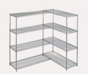 China Large Capacity Chrome Plated Wire Shelving Unit Add On Kit Used In Food Store on sale