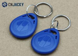 China Custom Access Control 13.56Mhz RFID Key Fob Tags ABS NFC Blank In Blue Color on sale