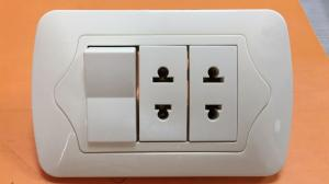 China Modern Outlets And Switches , Hotel / Office Single Electrical Outlet Elegant Design on sale