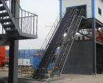 DJ Corrugated Sidewall Conveying Equipment Inclined Belt Conveyor For Bulk Material