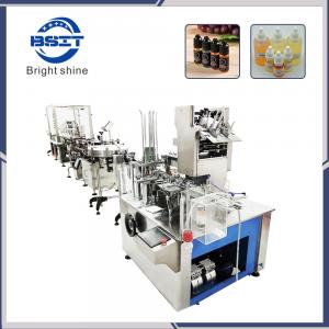 China E-cig/E-liquid  Plastic bottle  Filling and capping labeling cartoning packing machine on sale