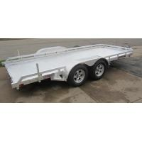 China Flat Bed 6 X4 Ft All Aluminum Open Trailer Single Axle With V- Type Draw Bar on sale