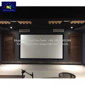 China Xy Screens Home Theater Wall Mount Fixed Frame Projector Screen on sale