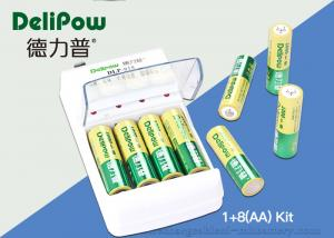 China Environmental 8 AA 1000mAh Rechargeable Batteries And Charger  on sale