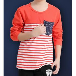 China Precio barato de la ropa del desgaste de los niños de la camiseta del polo del algodón de la camiseta de la raya de la calidad de Hiht on sale