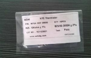 China Radial Leaded Epoxy Resin Coated 10K NTC Thermistor For Measuring Temperature on sale