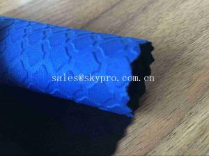 China Heat Resistant Blue Commercial Neoprene Fabric Roll 3mm Stability SBR Neoprene Polyester Jersey Fabric on sale