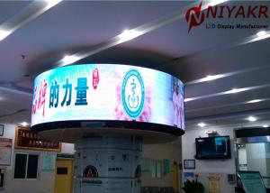 China Full Color Circular Led Display P6 Round LED Screen Arc Shape SMD 1R1G1B on sale