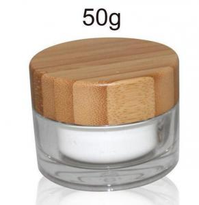 Quality 50gr bamboo glass Jar with PP lid for sale