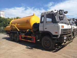 China 16 Tons 210hp Waste Management Trash Truck , Vacuum Sewage Suction Truck on sale