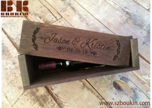 Wooden Wine Box Personalized Rustic Wood Wine Box, Wedding and ...