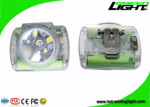 China Cordless Rechargeable LED Headlamp , LED Mining Lamp With Transparent Color on sale