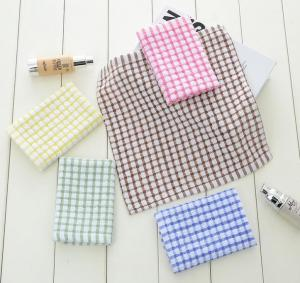 China 6 Colors Custom Plain Tea Towels , Eco - Friendly Waffle Weave Kitchen Towels  on sale