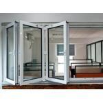 China Outside Grey Aluminum Folding Glass Windows Powder Coating For Commercial wholesale