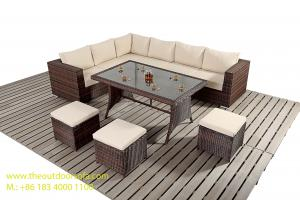 China PE Wicker Rattan Sofa / Chair, Outdoor Sectional Sofa Set, Rattan Garden Furniture, on sale
