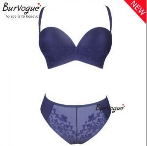 bd4e13f2b01 ... Quality New ladies bra underwear blue fancy bra panty set photo push up bra  set sexy ...