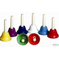 Orff Toy Music Instrument , Colorful 8 Note Hand Bell Set