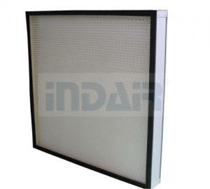 China Mini Pleated Clean Room HEPA Filters , PTFE HEPA Filter 0.3 Micron With CE UL FM on sale