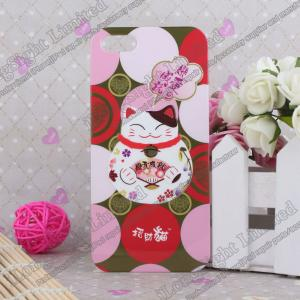 China Lucky Cat Pattern Hard Plastic Case For iPhone 5 on sale