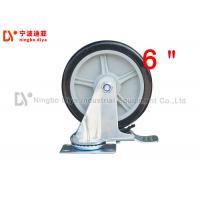 China Grey Heavy Duty Metal Caster Wheels ZP SC 6 PU 6 Inch Polyurethane Caster Wheels on sale