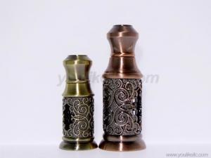 China Golden Arabic Middle East Dubai Luxury Crystal Essential Oil Dropper Bottle on sale