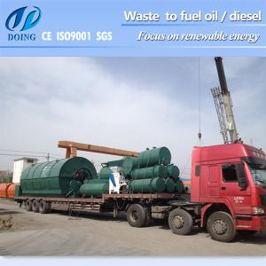 China 100% Environmental friendly and safety recycle plastic to oil machine pyrolysis plant on sale