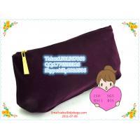 Super high quality velvet zipper coin purse