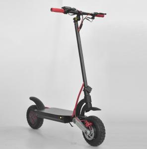 China Black Electric Kick Scooter 10 Inch Dual Motor Off Road Electric Scooter Easy To Fold on sale