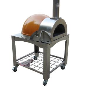 quality outdoor cooking tools best price stainless steel outdoor orange pizza oven portable wood fired pizza