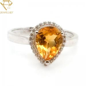 China Diamond Wedding  24K Personalized Silver Ring on sale