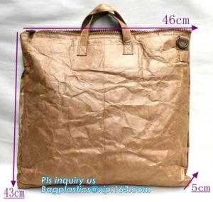 China Tyvek paper brown laptop backpack/rucksack, waterproof kids school bag tyvek backpack, drawing tyvek paper backpack on sale