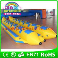 Hot sale inflatable fly fish banana boat inflatable adult boat for water park